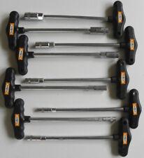 9 T-Griff Set Steckschlüssel Satz Aussen-Sechskant Nüsse Nuss Kfz Werkzeug  6-14