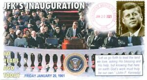 COVERSCAPE computer designed 60th anniversary of JFK's Inauguration event cover