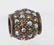 Brighton CRYSTAL VOYAGE BRONZE bead NEW spacer charm NWOT $23 Retail