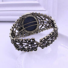 Bronze Bracelets Queen Fashion Carved Elegant Bangle Statue Rhinestones Cameo