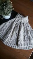 ❤ Gorgeous Girls Autumn Knitted Cream Poncho Age 4-5 Years Great for Christmas ❤