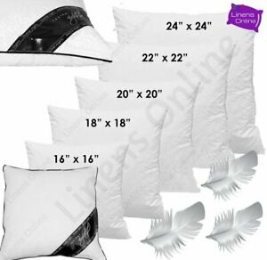 "DUCK FEATHER CUSHION PADS INNERS INSERTS FILLERS SCATTER 16"" 18"" 20"" 22"" 24"""