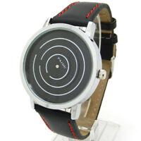 PAIDU Men Women Leather Strap Line Analog Quartz Ladies Wrist Watches Fashion