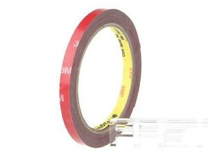 1X 7mm 3M Double Sided Sticky Car Adhesive Tape Home Vehicle Strip Light DIY