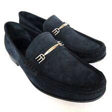 S-1928111 Nuevo Bally Lopin ante Azul Zapatos Mocasines Sz Us 8D Marcado 7E
