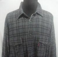 Levis Dry Goods Mens XL Cotton Button Up Jacket Gray Vintage 1980s