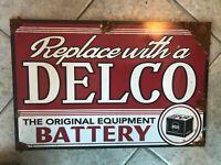 Antique style porcelain look AC Delco Gm dealer battery sales/service sign