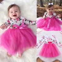 AU Newborn Kids Baby Girls Dress Infant Romper Jumpsuit Bodysuit Clothes Outfits