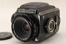 ZENZA Bronica S2 Black body Camera w/ Nikkor P 75mm F/2.8 Lens From Japan B45