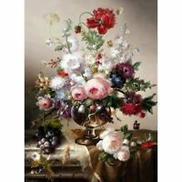 Flowers Full Square Diamond 5D DIY Painting Cross Stitch Kits Mosaic Home Decor