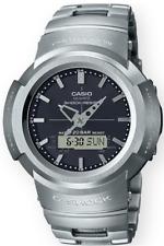 Casio G-Shock Stainless Steel AWM500D-1A Silver Analog-Digita Multi-Band 6 Solar