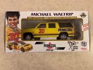 Michael Waltrip NASCAR 1994 Suburban 1/25 Scale Diecast Bank Model MIB