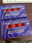 8 Vintage C-9 1/4 Outdoor Christmas Bulbs In Multi-Colors  New