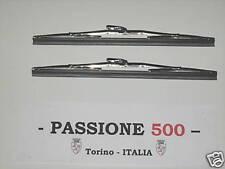 COPPIA SPAZZOLE TERGICRISTALLO CROMATE FIAT 500 D F