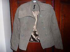 Topshop Kaki Militare Cappotto Giacca. Taglia 8