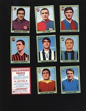 RARE FIGURINE CALCIATORI MIRA 1968/69 68/69!!NUOVI ARRIVI CON RARE E SCUDETTI!!!