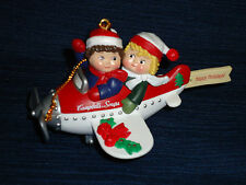 "Campbell's 3-D SOUP KIDS ""FLYING BY"" in a PLANE Christmas Ornament 1998"