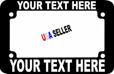 MOTORCYCLE SCOOTER BIKE CUSTOM TEXT PERSONALIZED CUSTOMIZED License Plate Frame