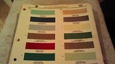 1960  EDSEL PAINT CHIP CHART