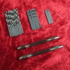 2PC Double Ended Jewellers & Silversmiths Universal Pin Vice & 30Pc Micro Drills