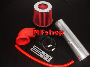 RED For LONG 1997-2004 Jeep Cherokee Grand 4.0L I6 Air Intake Kit + Filter