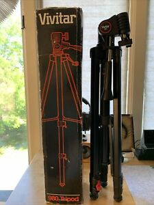 Vivitar 980 Static 64.6 Inch Tripod **For Part Only** 2Broken Leg Clips See Pics