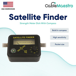 Analog Satellite Signal Finder Strengh Meter Directv Dish Fta Compass NETWORK