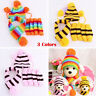 Winter Warm Stripe Knitted Striped Pet Dog Hat Scarf Socks Puppy Costume Clothes