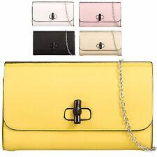 Ladies Fx Leather Envelope Clasp Clutch Style Evening Party Handbag Purse KT658