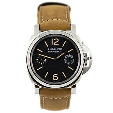 Panerai PAM00590 Luminor Marina 8 Days Acciaio 44MM Men Brown Leather Watch New