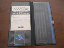 Vintage KORG DFC-P01 Memory Card DDD-5 ORIGINAL case, overlay + pattern chart