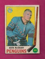 1969-70 OPC # 114 PENGUINS KEITH MCCREARY VG CARD (INV#3991)