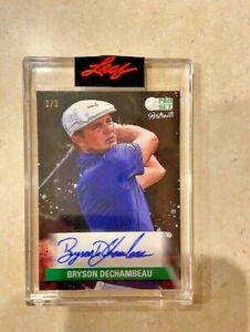 2021 Leaf Pro Set Portraits Bryson Dechambeau 2/3 green auto autograph card Golf