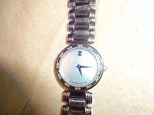 Ladies Diamond Movado KARA Blue Museum Dial Stainless Steel Swiss Quartz Watch