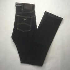 NWT Armani Mens J31 Regular Dark Blue Jeans Size 27 Q