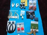 Ten  Pairs Vintage  Earrings Lot  Pierced. Dangle  JPC30