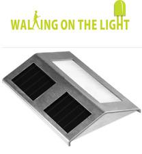 LED Stainless Steel Solar Wall Light Outdoor Garden Patio Door Light