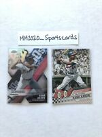 Hank Aaron 2020 Topps Insert Lot, Chrome Die Cut Refractor DOD-4 & DB-20 Braves