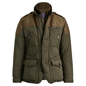 $2,695 Ralph Lauren Purple Label RLX Down Panel Wool Vest Puffer Jacket Coat NWT