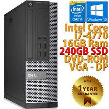 PC COMPUTER RICONDIZIONATO DELL 7020 SFF CORE i7-4770 RAM 16GB SSD 240GB WIN 10