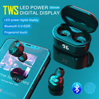 NEW Bluetooth 5.0 Headset TWS Wireless Earphones Mini Earbuds IPX5 Stereo CSI