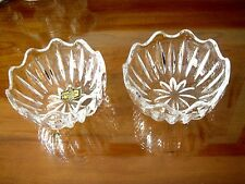 SET OF 2 VINTAGE KRISTAL ZAJECAR LEAD CRYSTAL CANDY DISHES VERY GOOD CONDITION