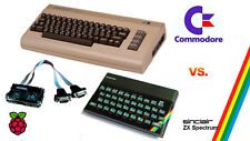 Raspberry Pi C64 VS ZX SPECTRUM Emulatore immagine & GPIO Retrò JOYSTICK Interfaccia