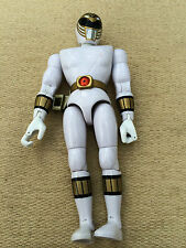 "Power rangers mighty morphin ninja deluxe white  8"" ranger figure"