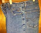 ***Nice Women's Sz-2x34 Vintage HARLEY DAVIDSON Straight Leg Classic Blue Jeans