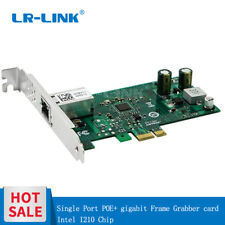 POE+ Gigabit Ethernet Frame Grabber PCI-E Camera Capture Video Card  Intel I210