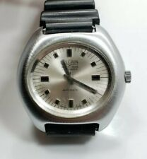 Vintage Mens Unique Vulcain Stainless Steel Automatic 17 Jewels Wrist Watch