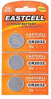 3 x CR2032 3V Lithium Batterie 210 mAh ( 1 Blistercard a 3 Batterien ) EASTCELL