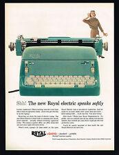 1957 Royal Electric Turquoise Green Typewriter Photo Vintage Print Ad