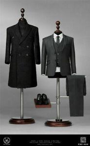 """POPTOYS 1/6 POP-X34 Rich Gentleman Ben Overcoat Suit Fit 12"""" Figure"""